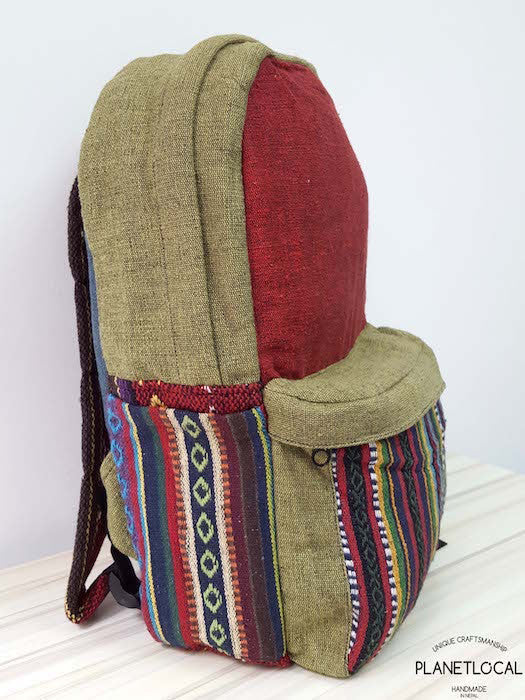 JILIMILI-1 Handmade tribal patterned organic cotton backpack - PLANETLOCAL (3)