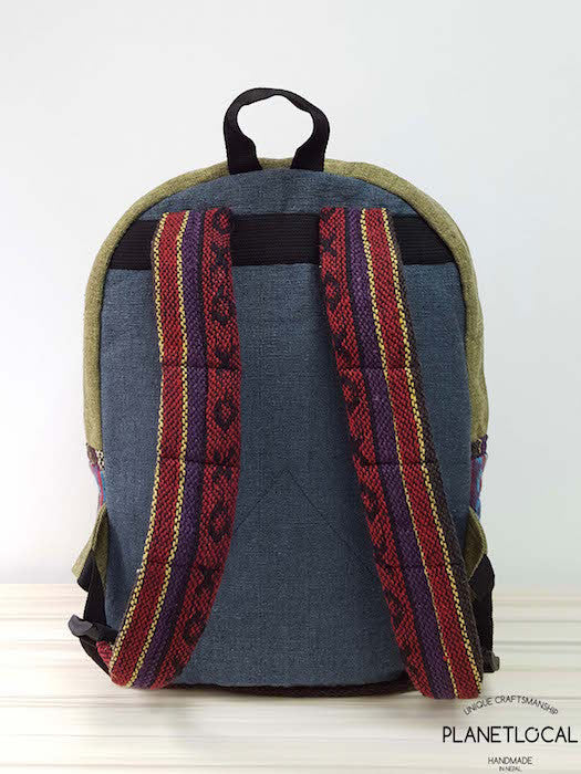 JILIMILI-1 Handmade tribal patterned organic cotton backpack - PLANETLOCAL (4)