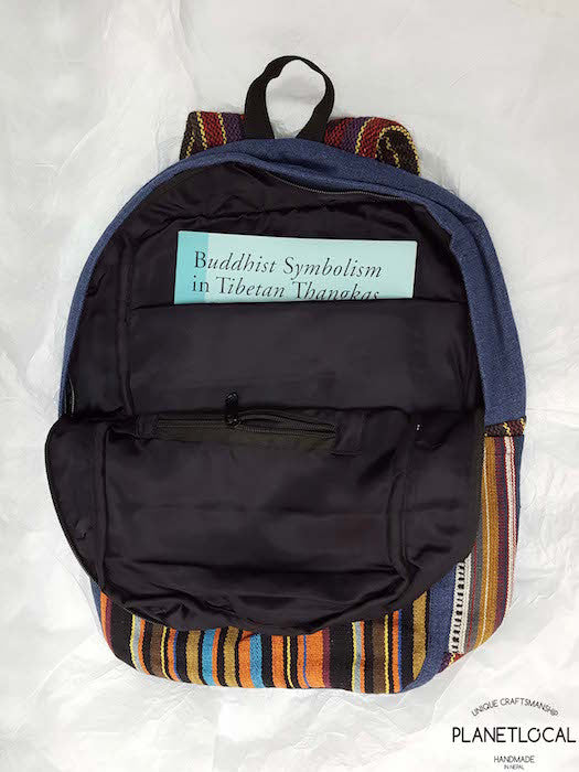 JILIMILI-1 Handmade tribal patterned organic cotton backpack - PLANETLOCAL (6)
