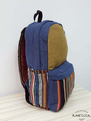 JILIMILI-1 Handmade tribal patterned organic cotton backpack - PLANETLOCAL