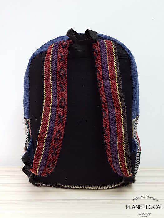 JILIMILI-1 Handmade tribal patterned organic cotton backpack - PLANETLOCAL (5)