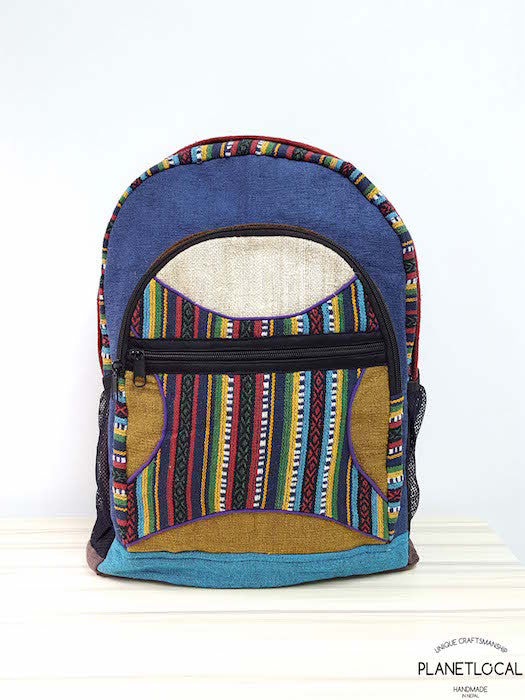 JILIMILI-2 Handmade colourful organic cotton and hemp backpack - PLANETLOCAL