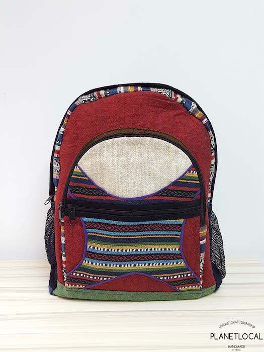 JILIMILI-2 Handmade colourful organic cotton and hemp backpack - PLANETLOCAL (6)