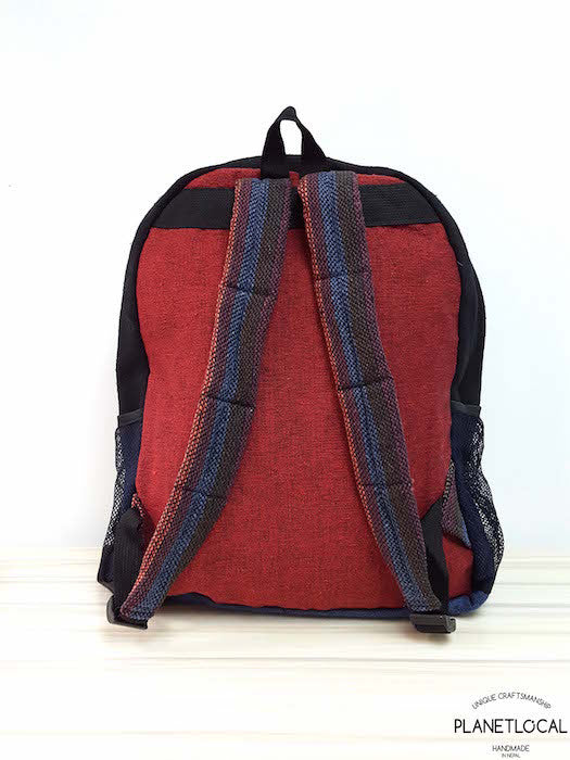 JILIMILI-2 Handmade colourful organic cotton and hemp backpack - PLANETLOCAL (8)