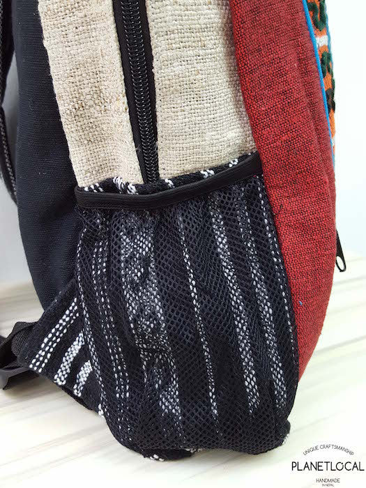 Jilimil-3 Handmade colourful organic cotton and hemp backpack - PLANETLOCAL (4)