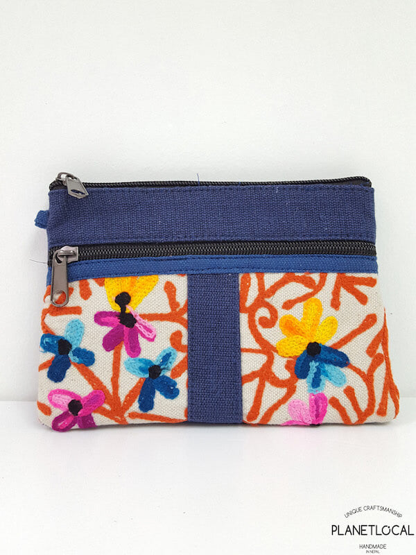 Embroidery Ethnic Himalayan Handmade Pouch Bag/ Cosmetic Bag