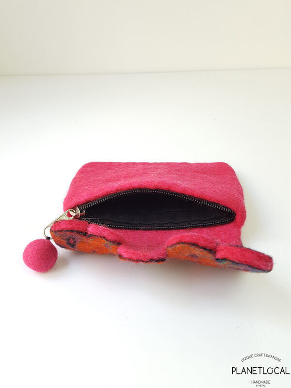 Handmade Colourful Felt Bags