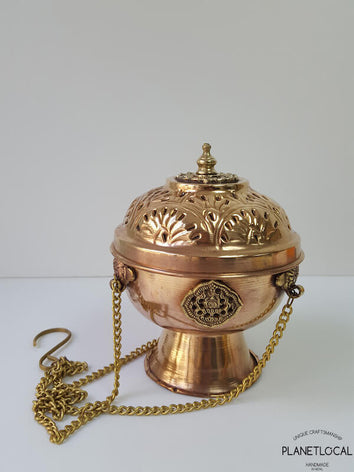 Handmade Copper Incense Burner pot