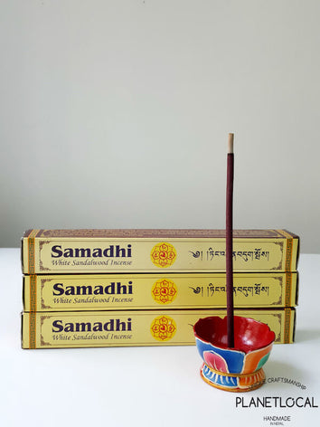 Samadhi White Sandalwood Incense Sticks