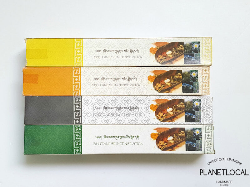 Assorted Nado Poizokhang Bhutanese Incense Sticks
