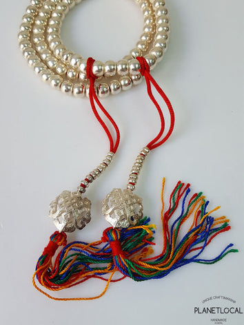 925 Sterling Silver Mala Counter