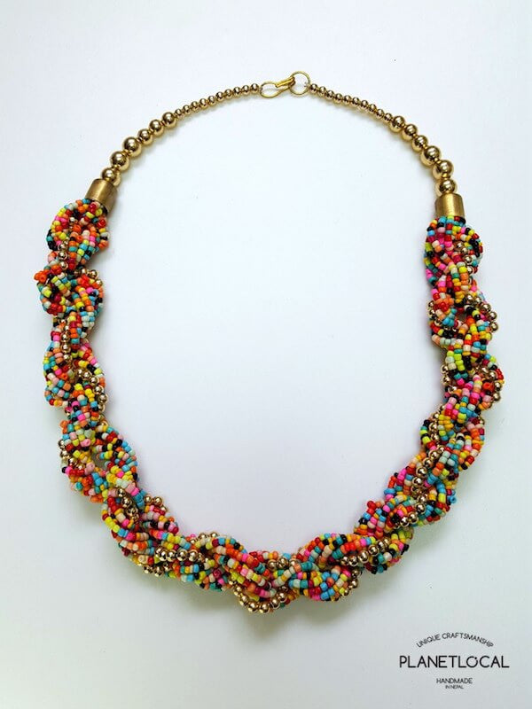 Ethnic Tribal Pote Beads Necklace