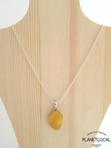 AMBER- Handmade 925 Sterling Silver Pendant - PLANETLOCAL