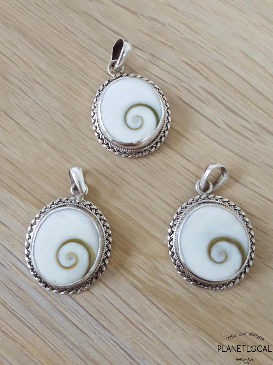 ROUNDS - Handmade 925 Sterling Silver Pendant - PLANETLOCAL (2)