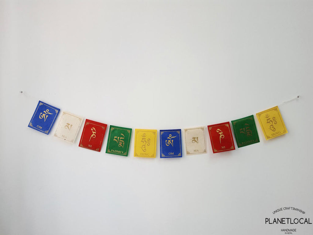 COMPASSION-Colourful Handmade Nepalese Lokta Paper Flags - PLANETLOCAL