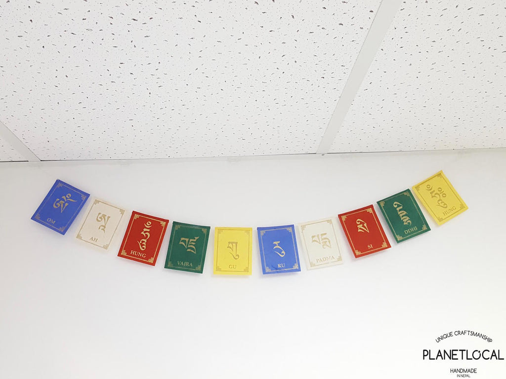 GURU RIMPORCHE-Colourful Handmade Nepalese Lokta Paper Flags - PLANETLOCAL