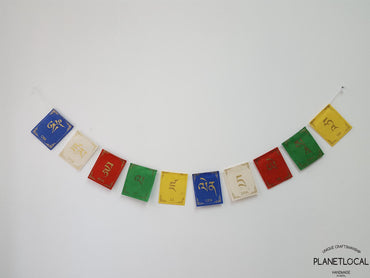 ZHAMBALA-Colourful Handmade Nepalese Lokta Paper Flags - PLANETLOCAL