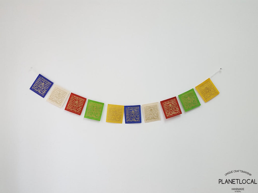 WINDHORSE-Colourful Handmade Nepalese Lokta Paper Flags - PLANETLOCAL