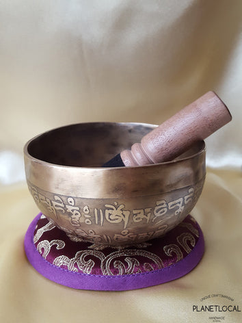 12cm Buddha Eyes Edition Etched Singing Bowls