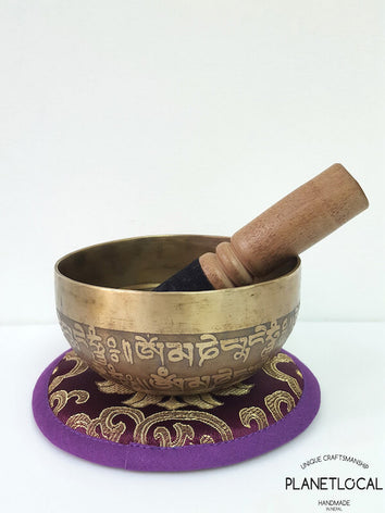 11cm Mantras of Compassion Singing Bowls-Om