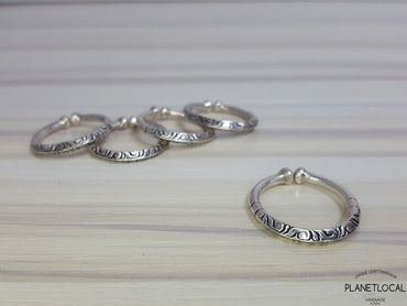 Tribal 925 Sterling Silver Open Rings