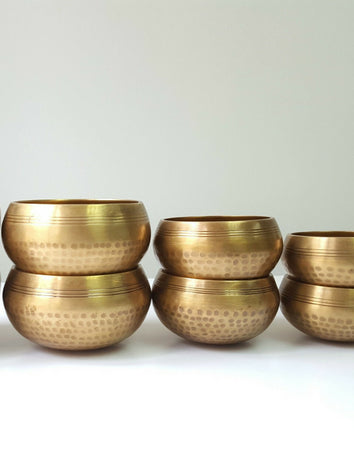 Signature Handhammered Dotted Chakra Singing Bowls