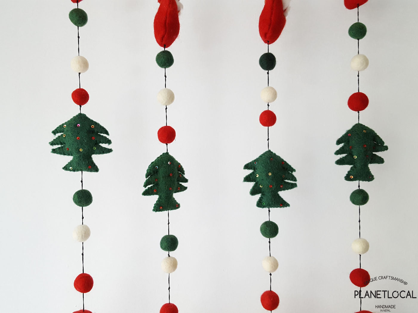 Liamaria Christmas Tree Wall Decoration : Handmade christmas wall hanging decor with santa claus