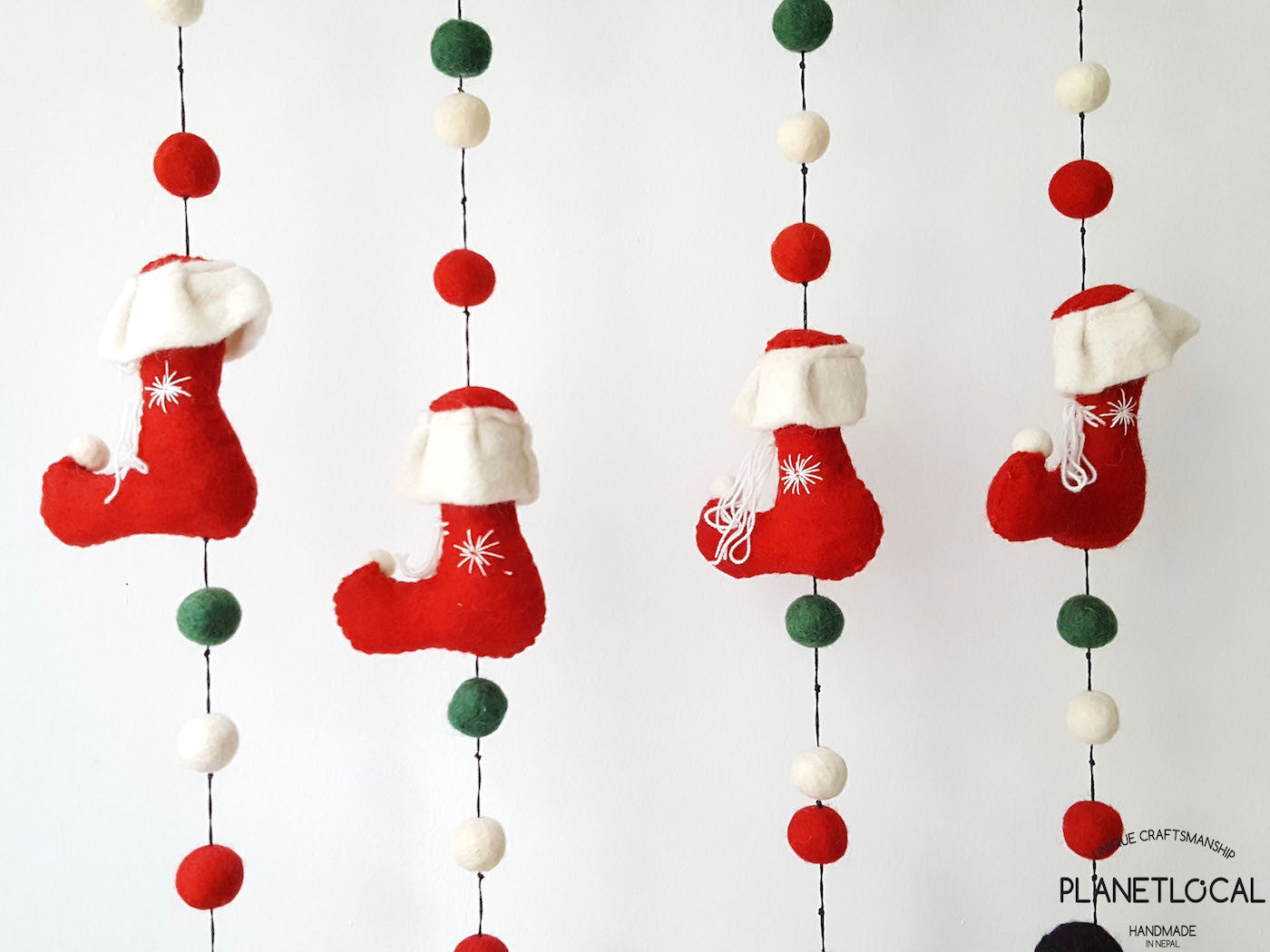 Handmade Christmas Wall Hanging Decor With Santa Claus