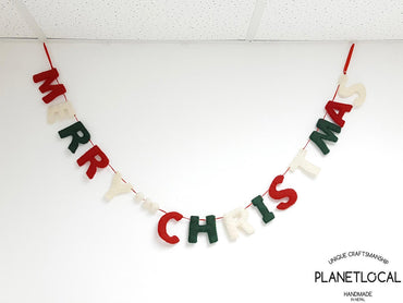 BUY 4 GET 1 FREE-Handmade Felt Merry Christmas Wall Hanging Decor - PLANETLOCAL