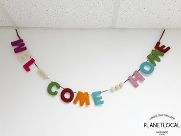 Handmade Felt Welcome Home Wall Hanging Decor - PLANETLOCAL
