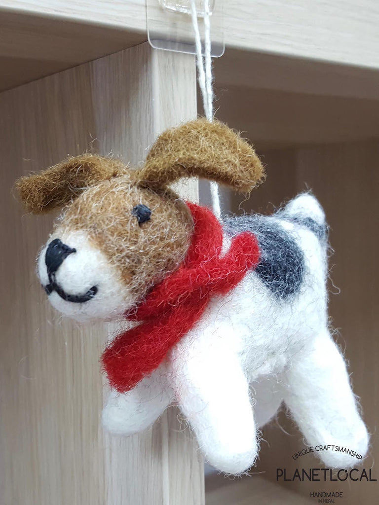 BUY 3 GET 1 FREE-Handmade Felt Cute Doggy wall hanging toy - PLANETLOCAL