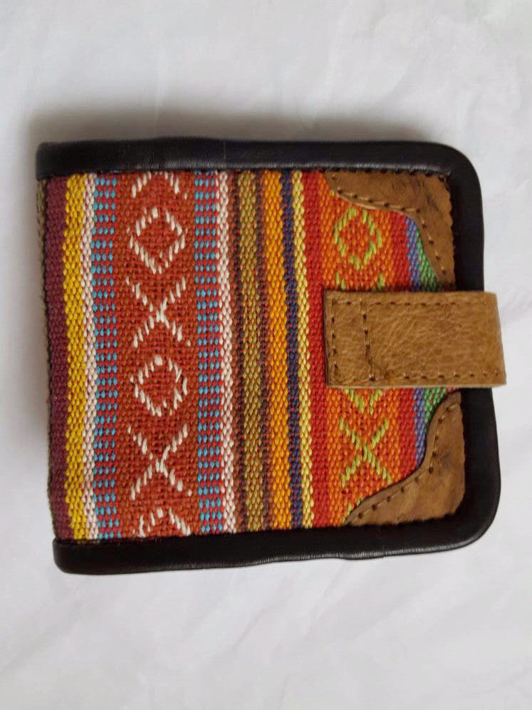 Pure Handmade Foldable Ethnic Cotton Fabric and Leather Wallet - PLANETLOCAL (4)