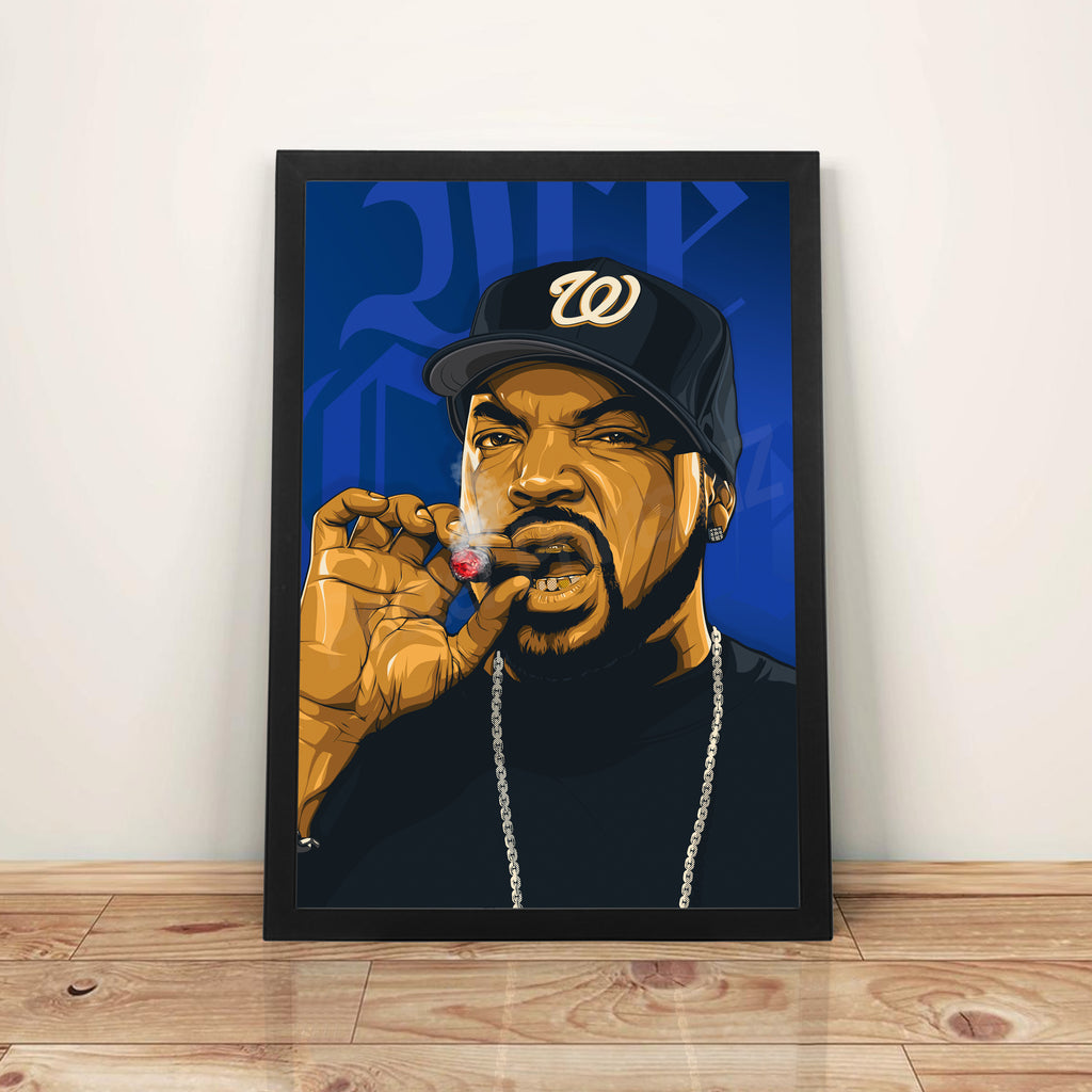 Ice Cube - A3 Framed Art Poster - Poster Prints NZ