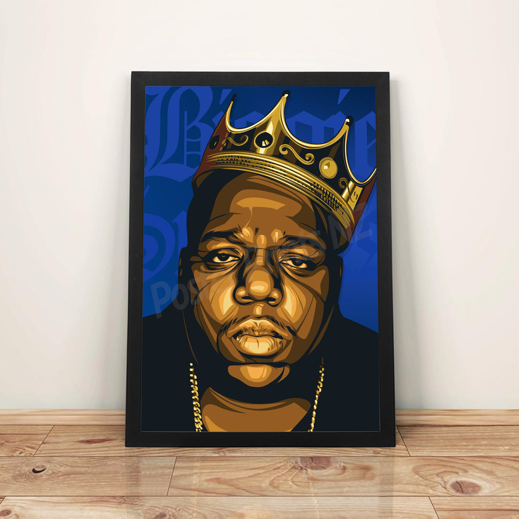 King Biggie - A3 Framed Art Poster - Poster Prints NZ