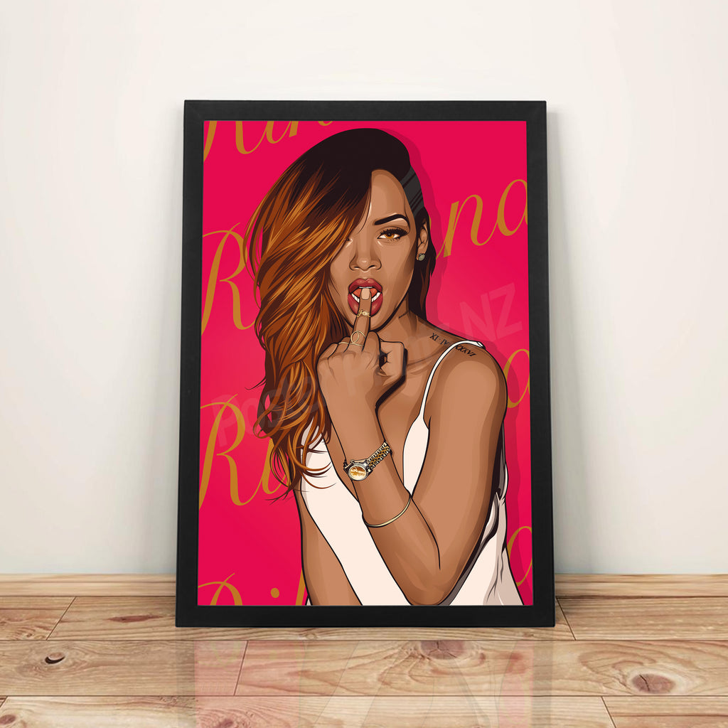 Rihanna - A3 Framed Art Poster - Poster Prints NZ