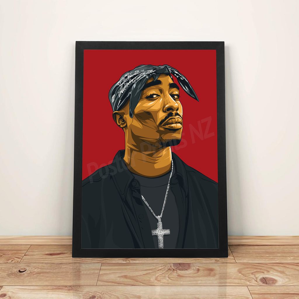 Tupac - A3 Framed Art Poster - Poster Prints NZ