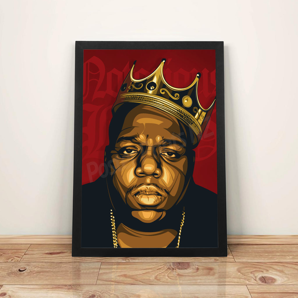Biggie 'Crown' - A3 Framed Art Poster - Poster Prints NZ