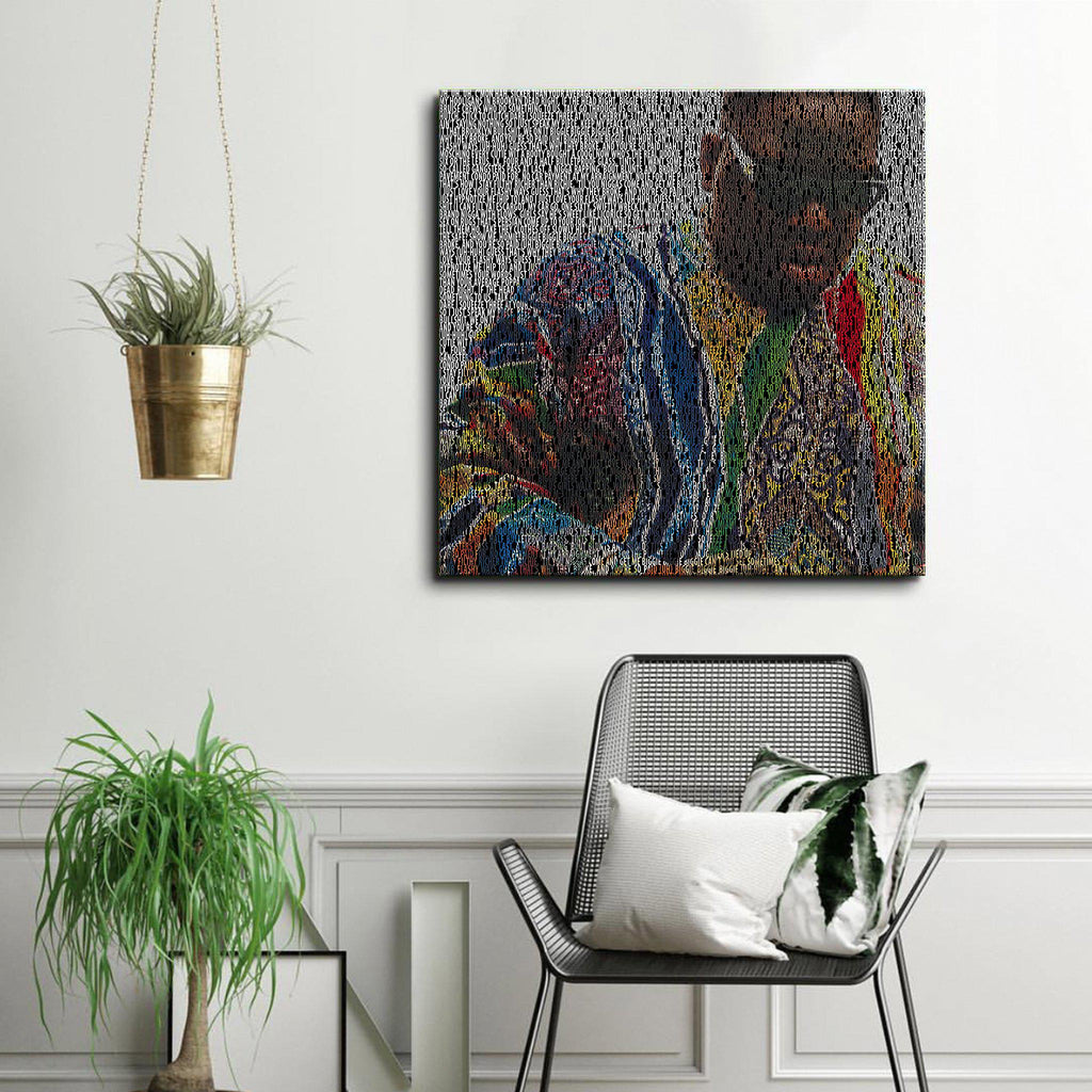 Biggie 'Hypnotize' Typographic Framed Art Canvas - Poster Prints NZ