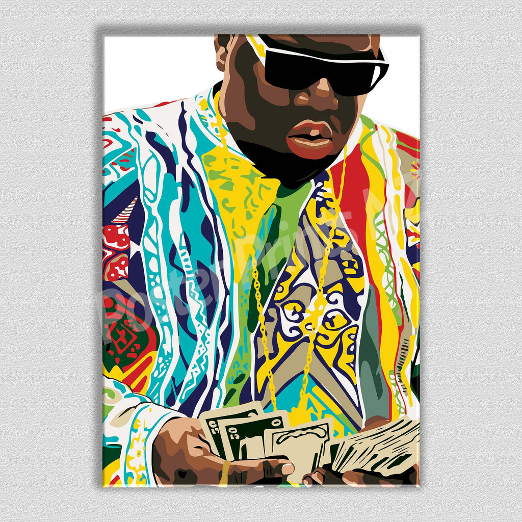 Biggie 'Get Money' Framed Art Canvas - Poster Prints NZ