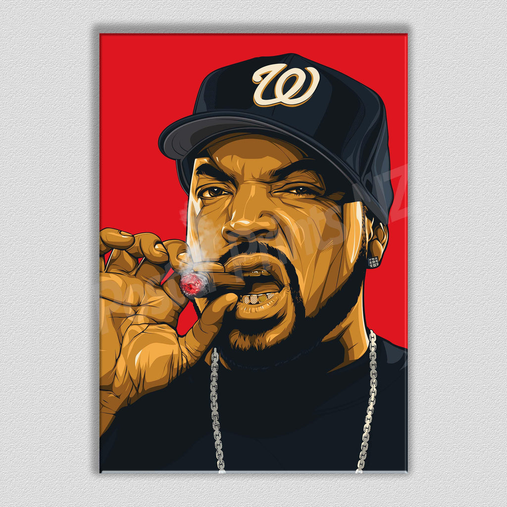 Ice Cube Framed Art Canvas - Poster Prints NZ