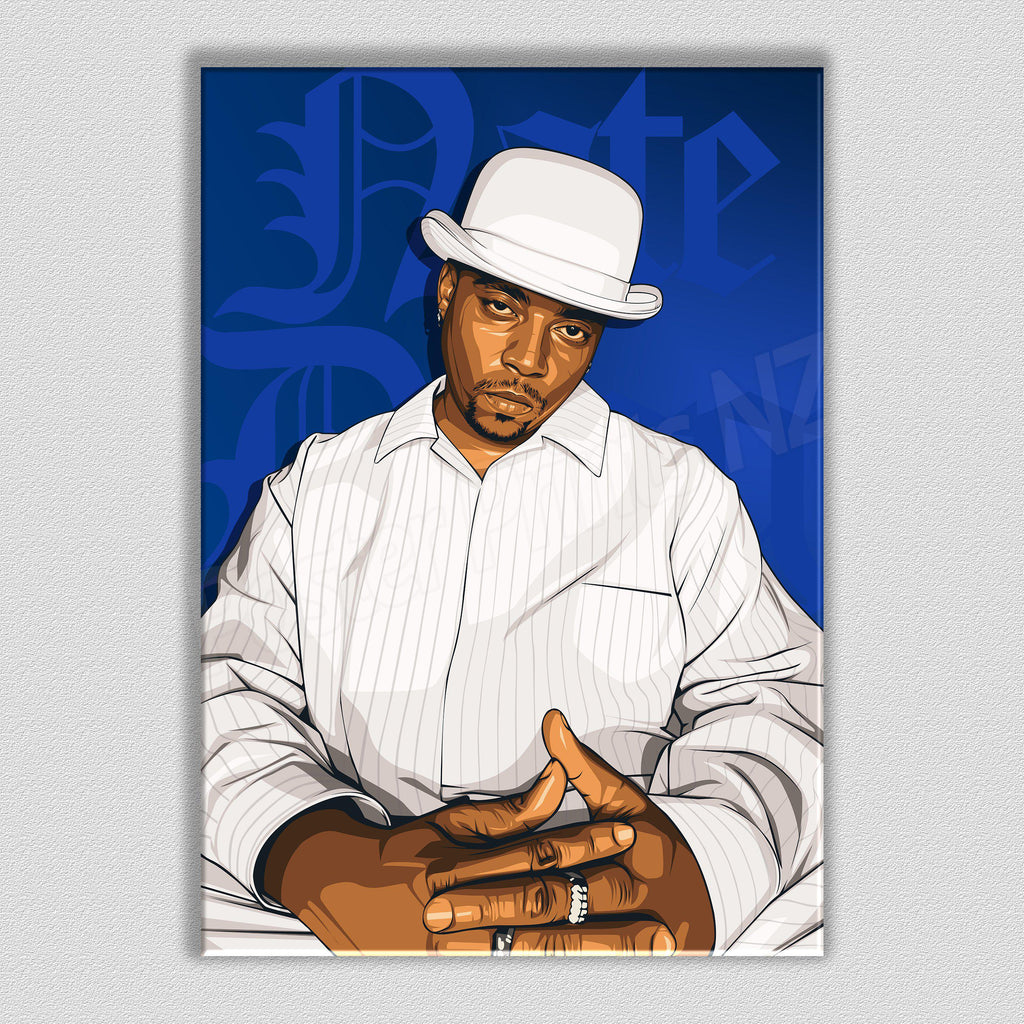 Nate Dogg Framed Digital Art Canvas - Poster Prints NZ