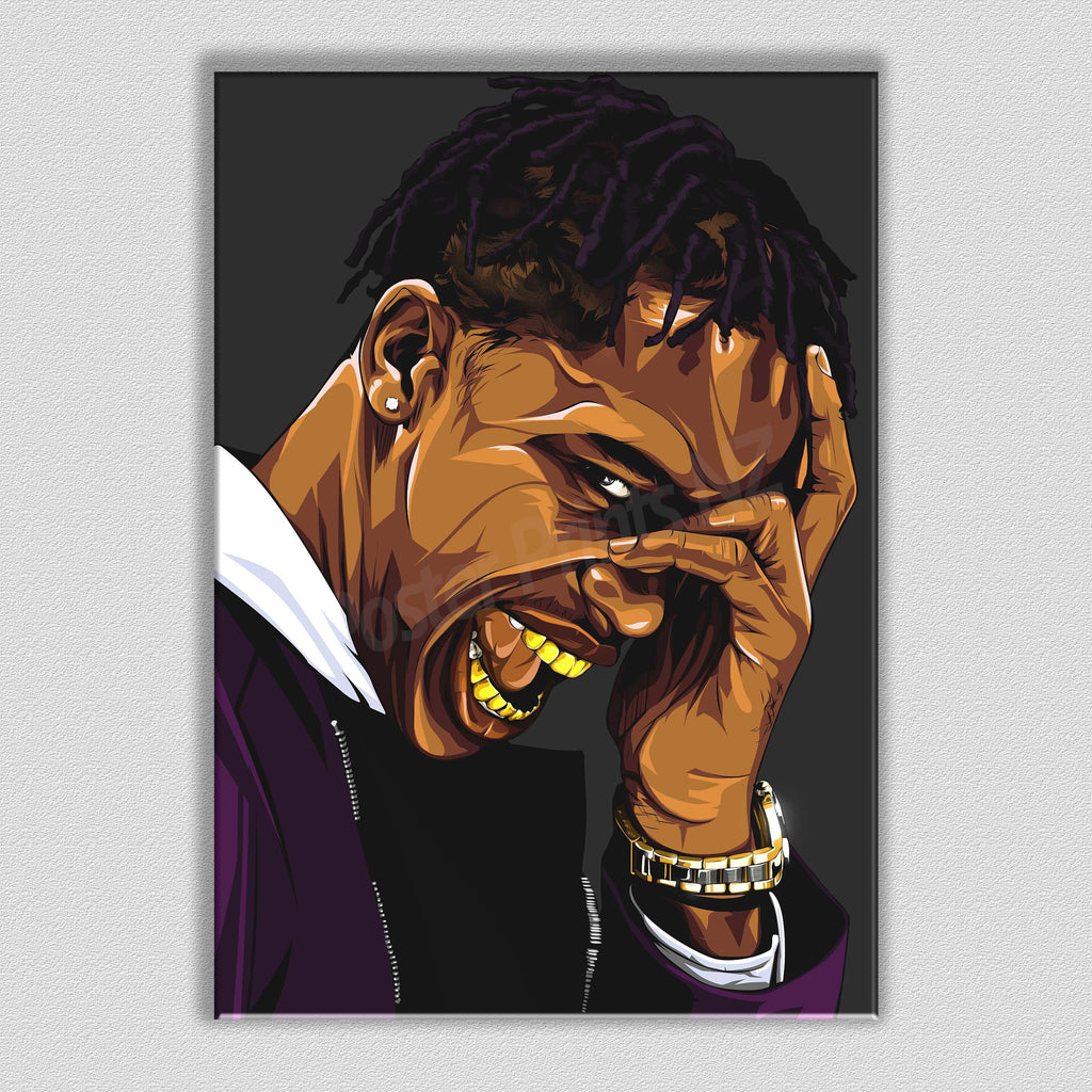 Travis Scott Framed Art Canvas - Poster Prints NZ
