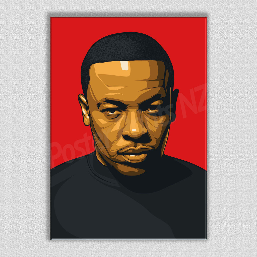 Dr Dre Framed Art Canvas - Poster Prints NZ
