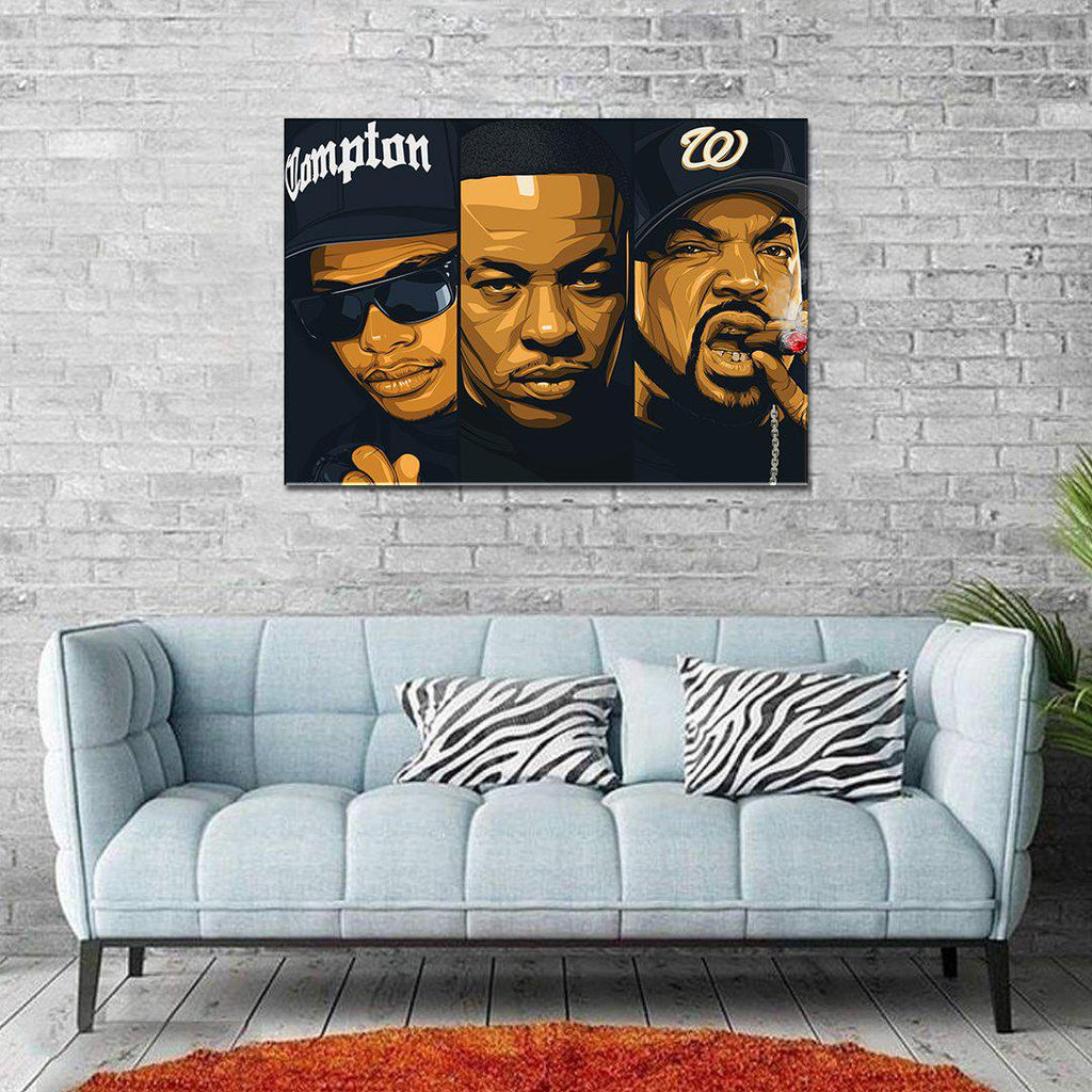 NWA Framed Art Canvas - Poster Prints NZ