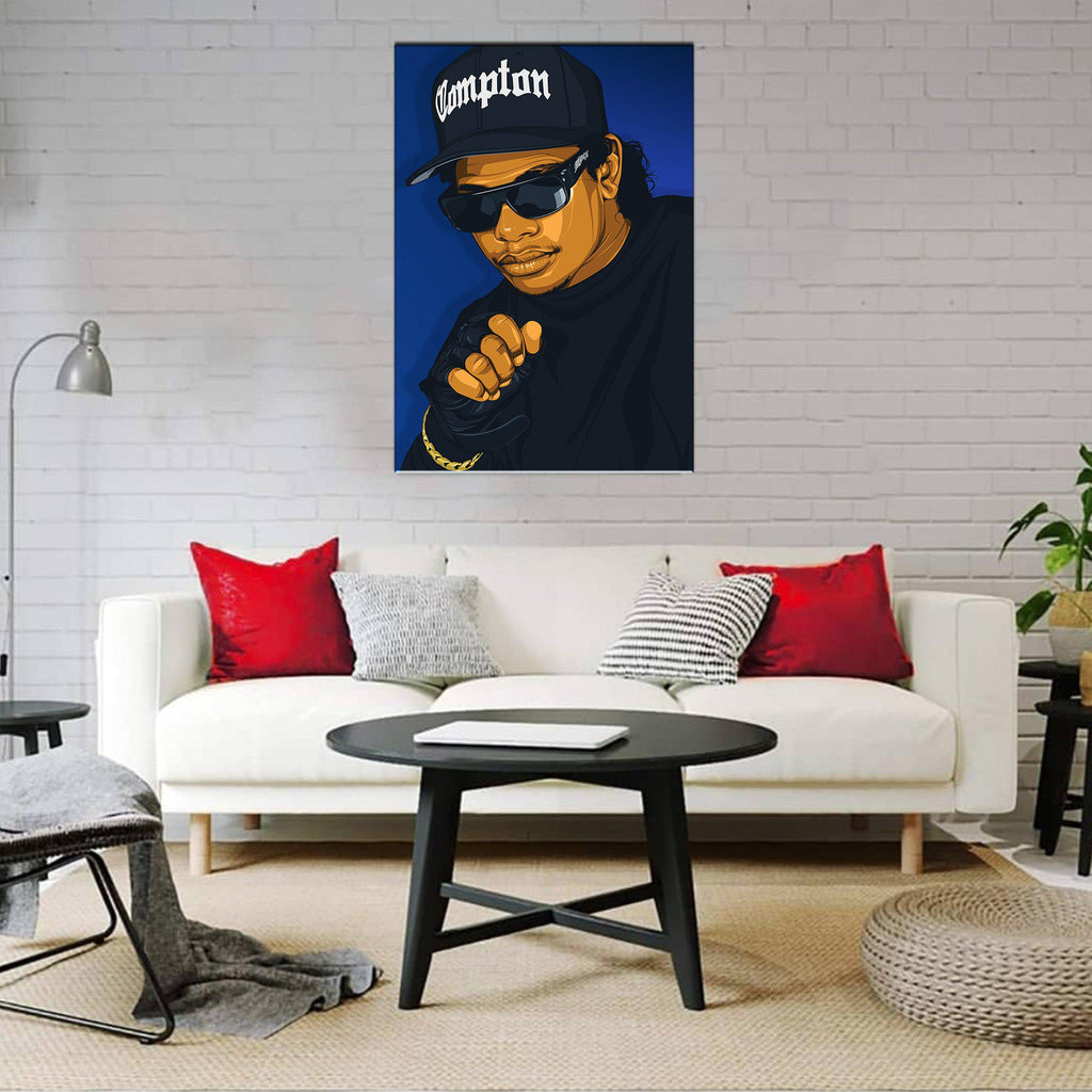 Eazy E Framed Art Canvas - Poster Prints NZ