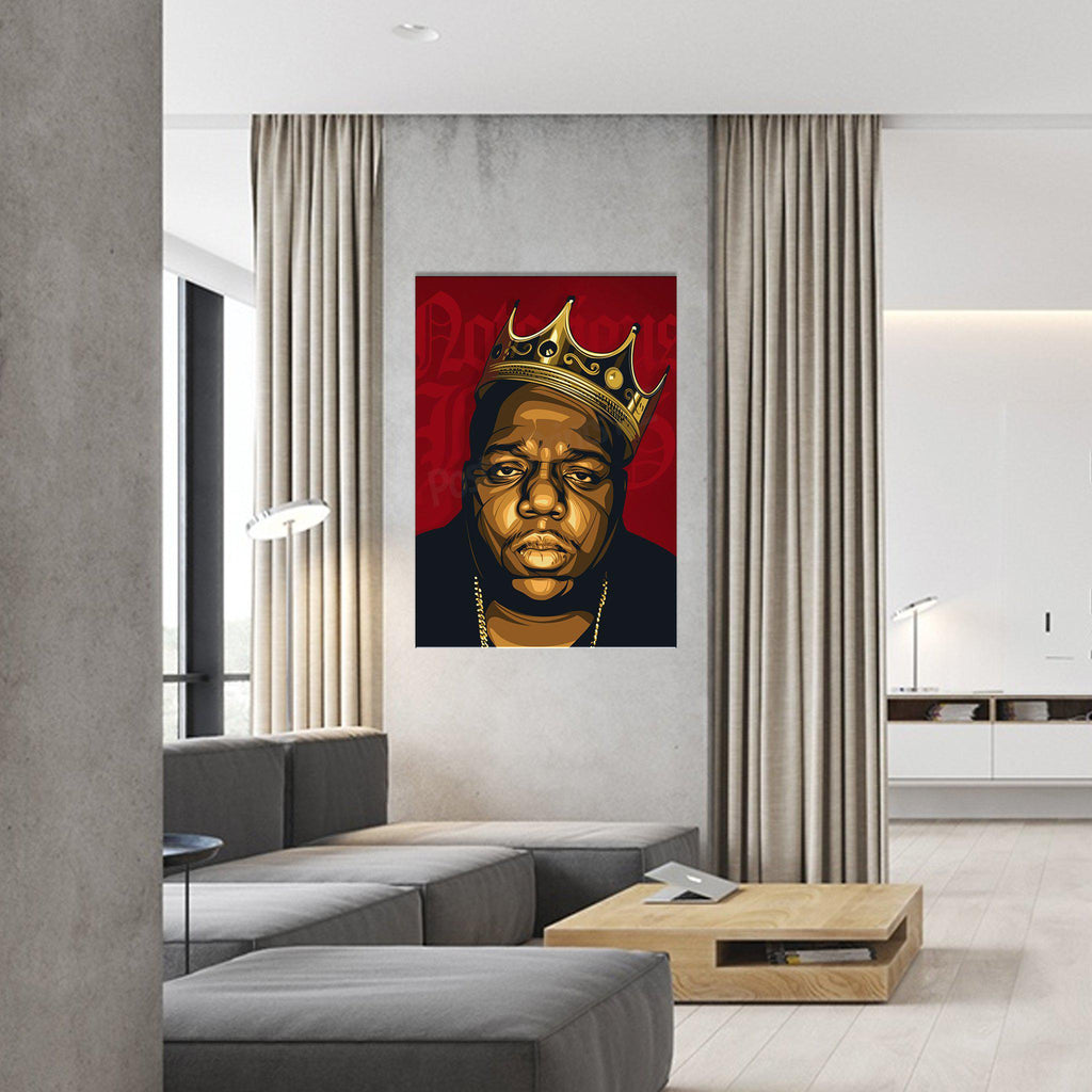 'King Biggie' Framed Digital Art Canvas - Poster Prints NZ