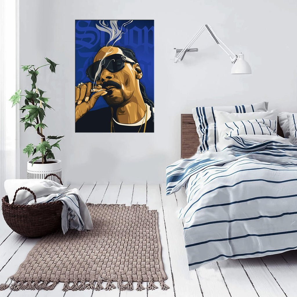 Snoop Dogg Framed Art Canvas - Poster Prints NZ