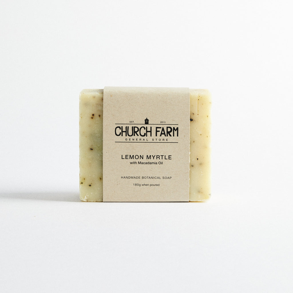 Church Farm General Store Soap - Lemon Myrtle with Macadamia Oil