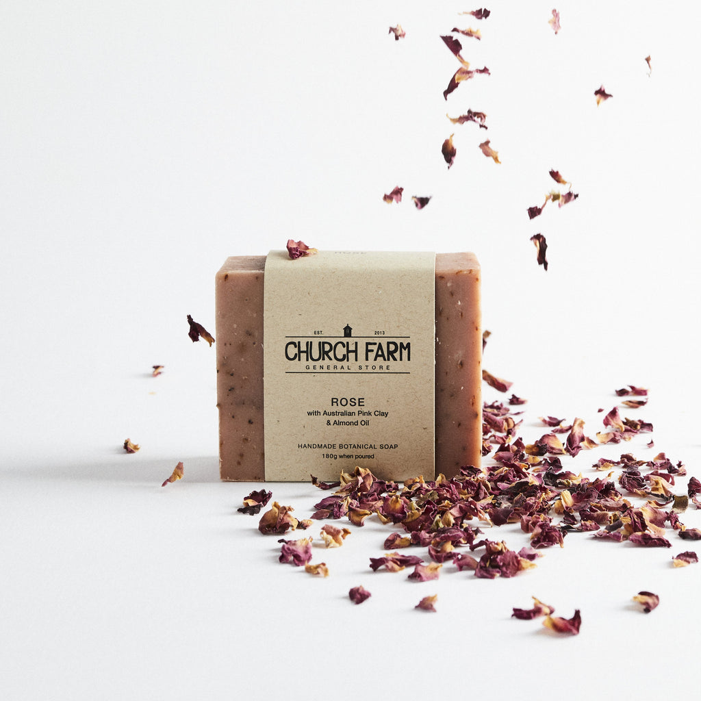Church Farm General Store Soap - Rose with Australian Pink Clay & Almond Oil