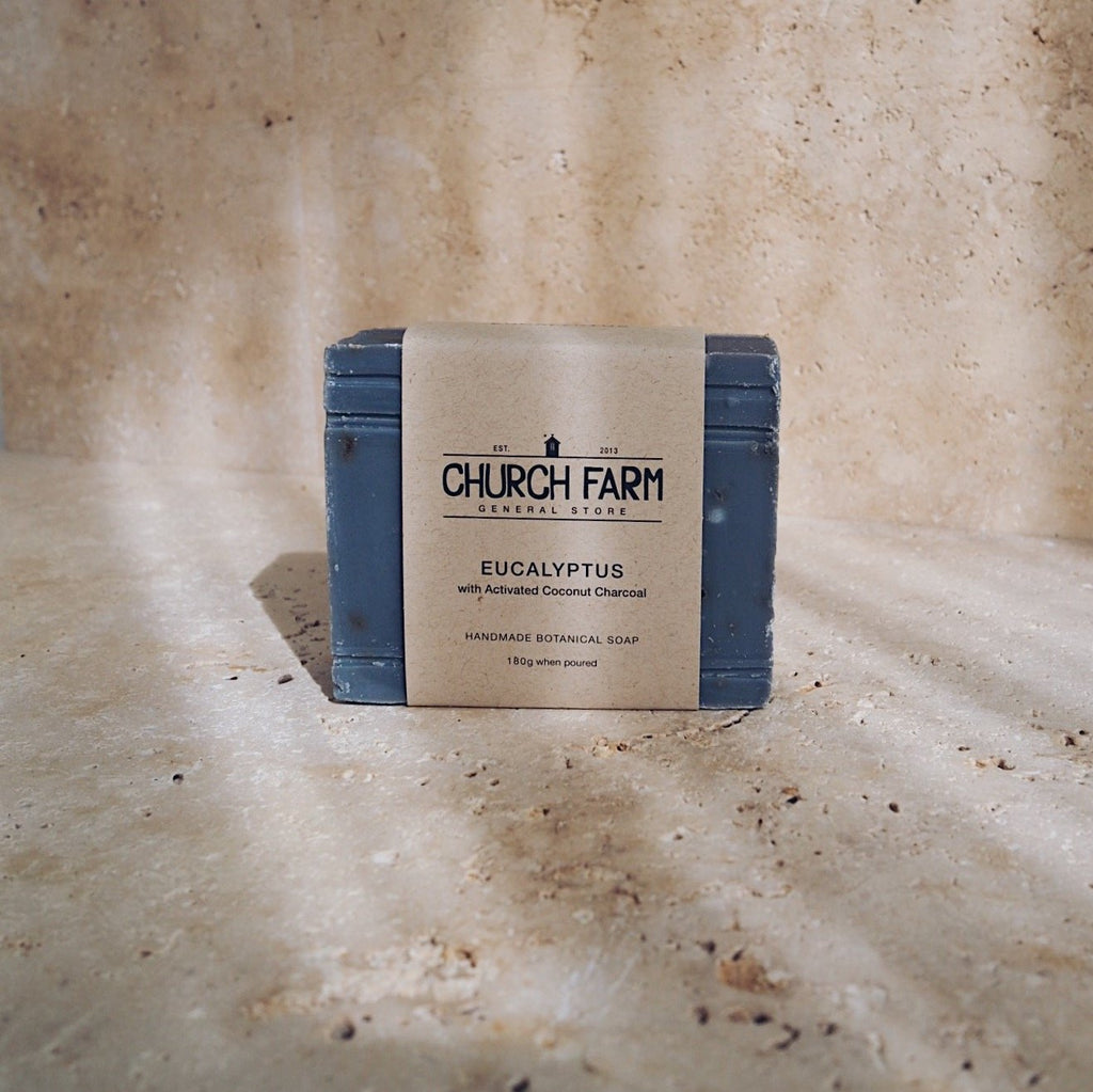 Church Farm General Store Soap - Eucalyptus with Activated Coconut Charcoal